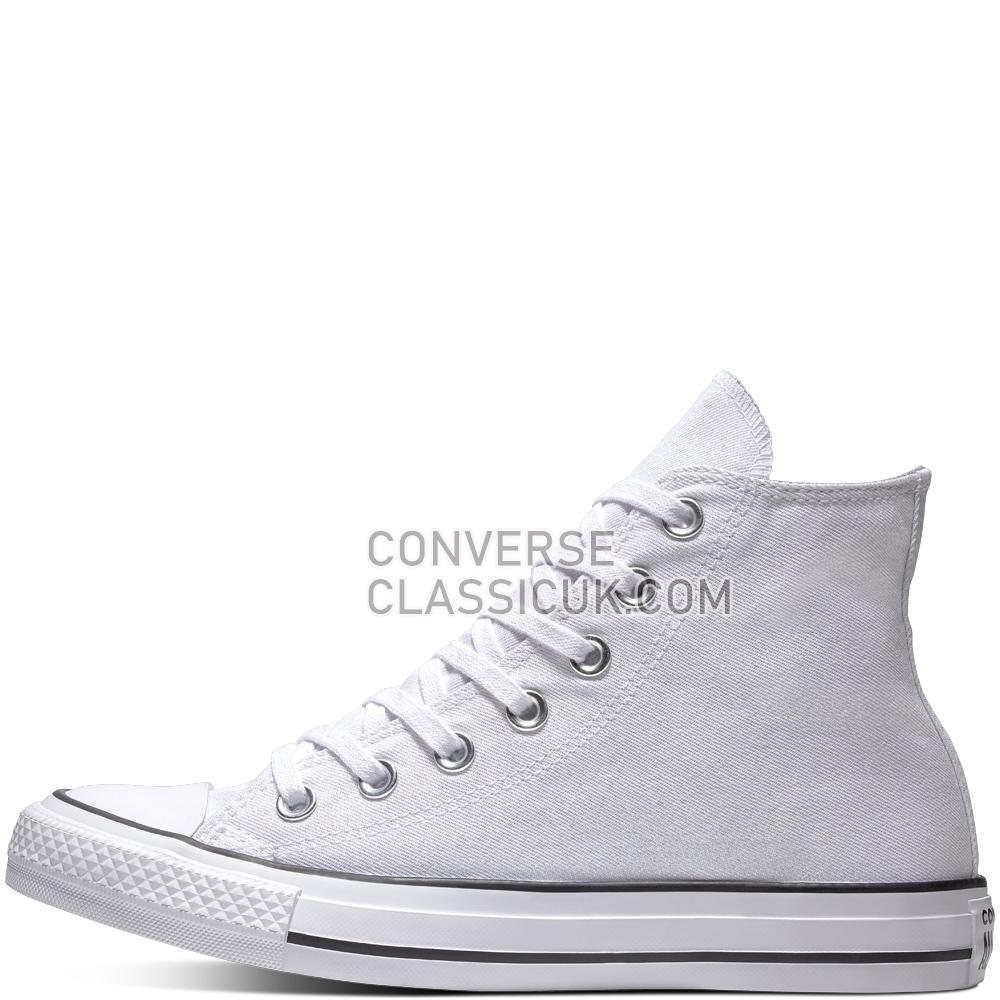 Converse Chuck Taylor All Star Precious Metals Textile High Top Womens 561709C White/White/Black Shoes