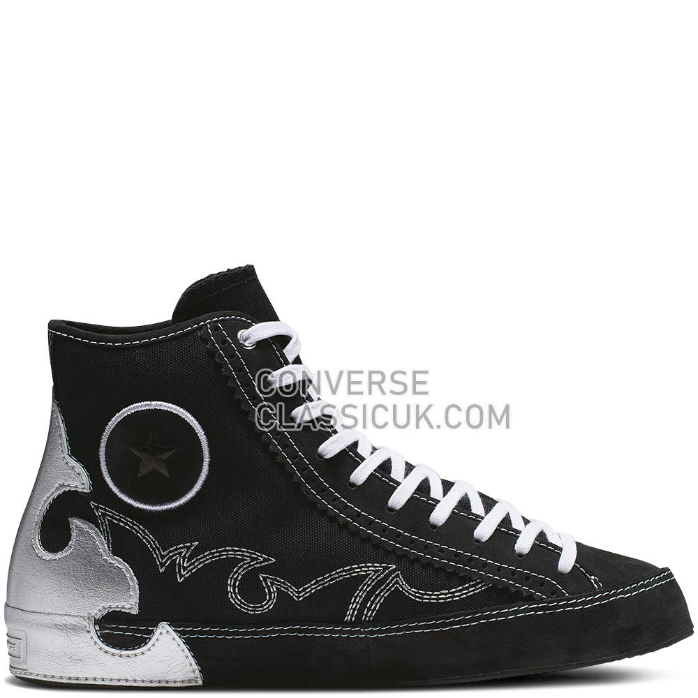 Converse Chuck Taylor All Star Sasha High Top Womens 565002C Black/Pure/Silver/Black Shoes
