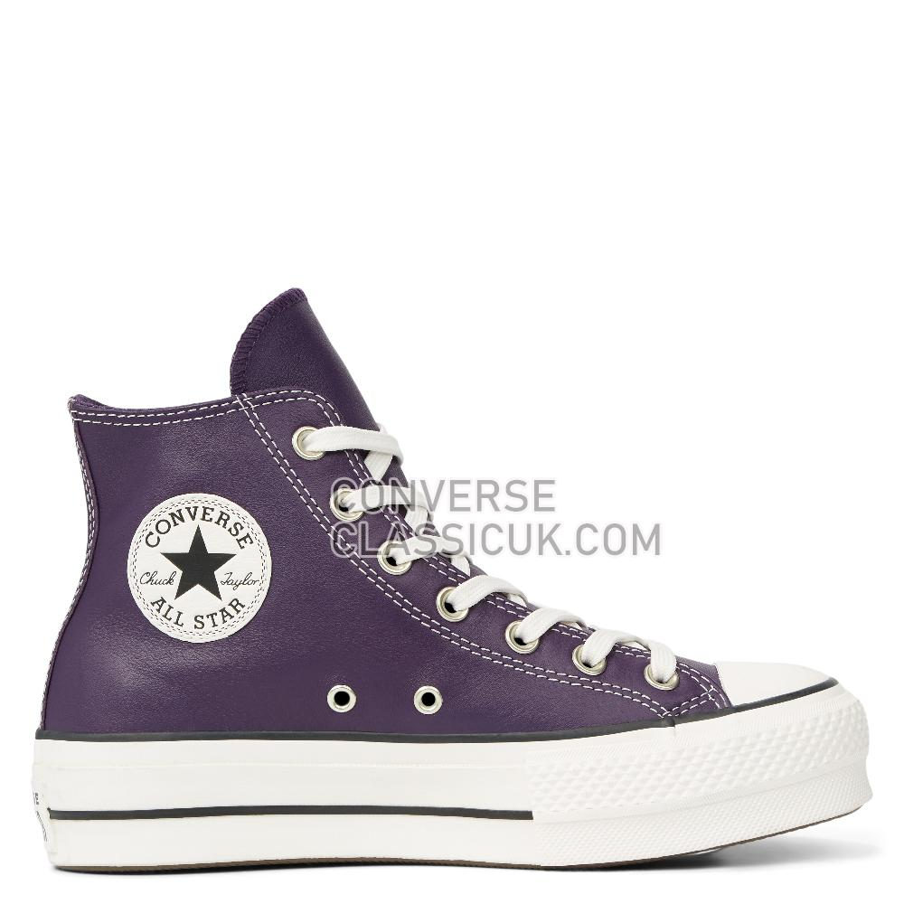 Converse Chuck Taylor All Star Platform Leather High Top Womens 565852C Grand/Purple/White/Black Shoes
