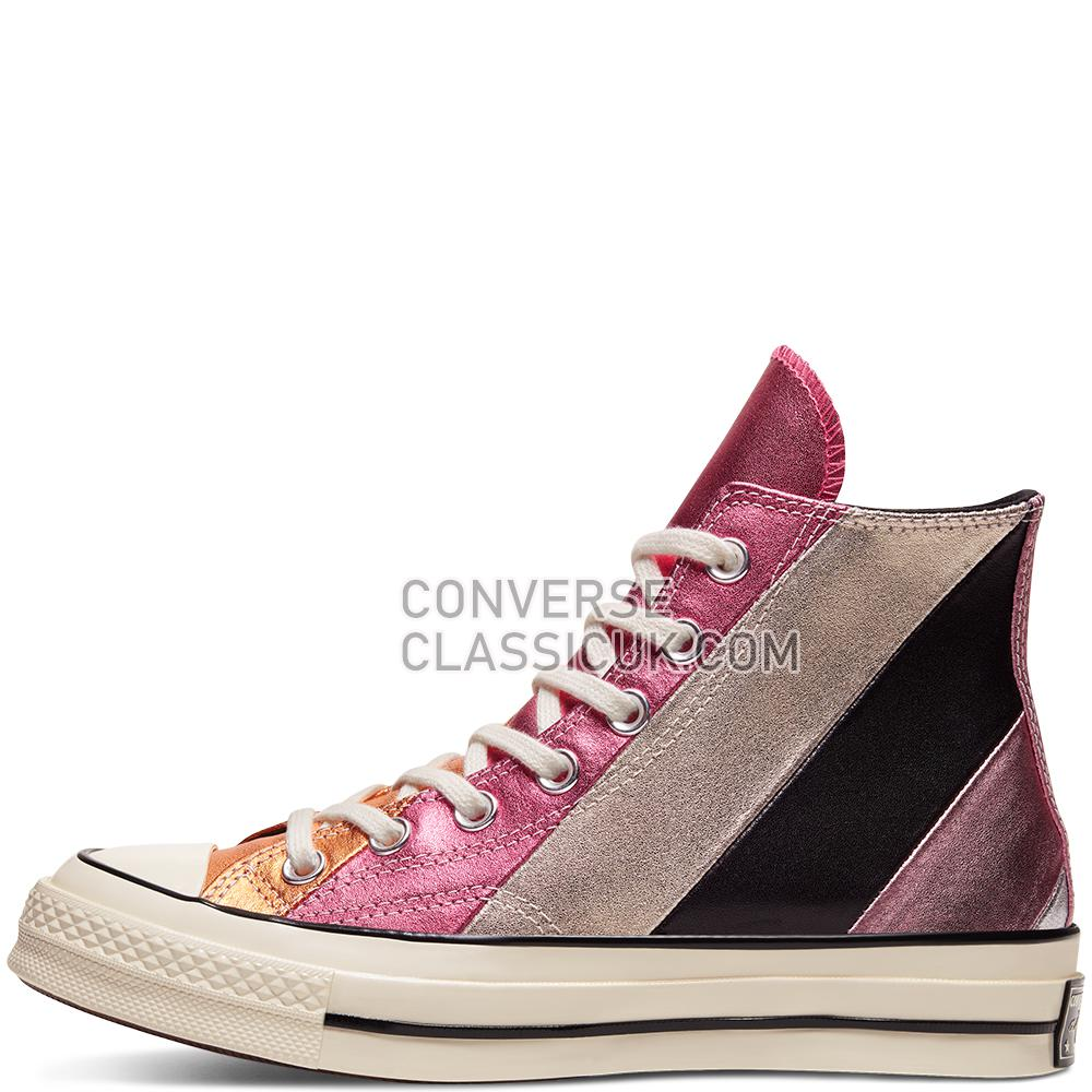 Converse Chuck 70 Metallic Rainbow High Top Womens 565866C Egret/Multi/Multi Shoes