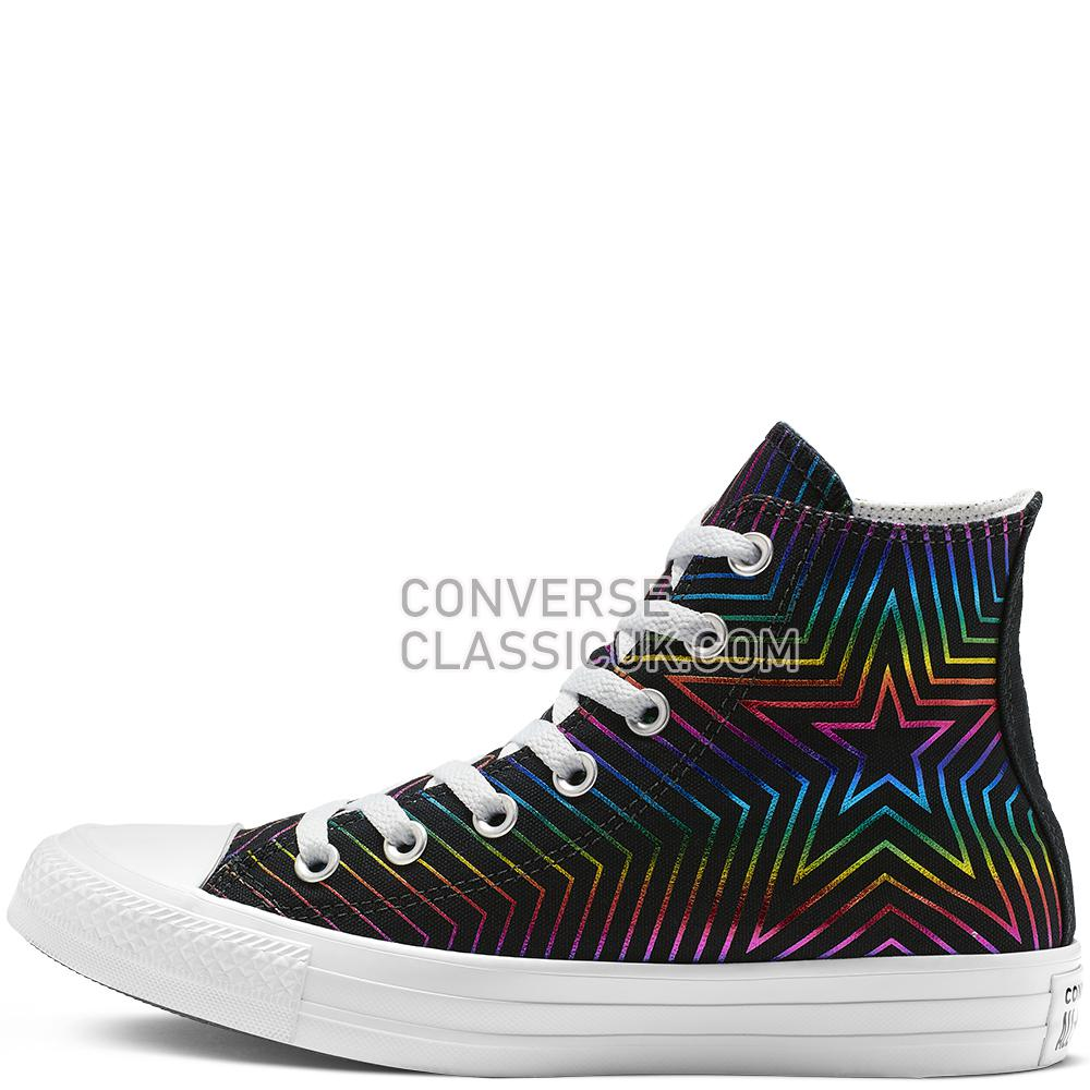 Converse Chuck Taylor All Star Exploding Star High Top Womens 565395C Black/White/Black Shoes