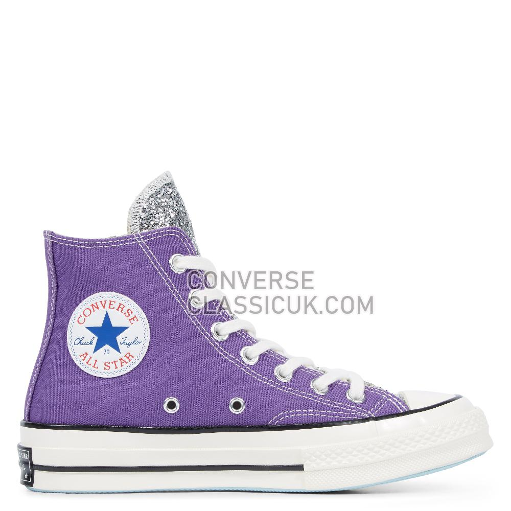 Converse x Chiara Chuck 70 Glitter High Top Womens 563832C Tillandsia/Purple/Silver/Egret Shoes