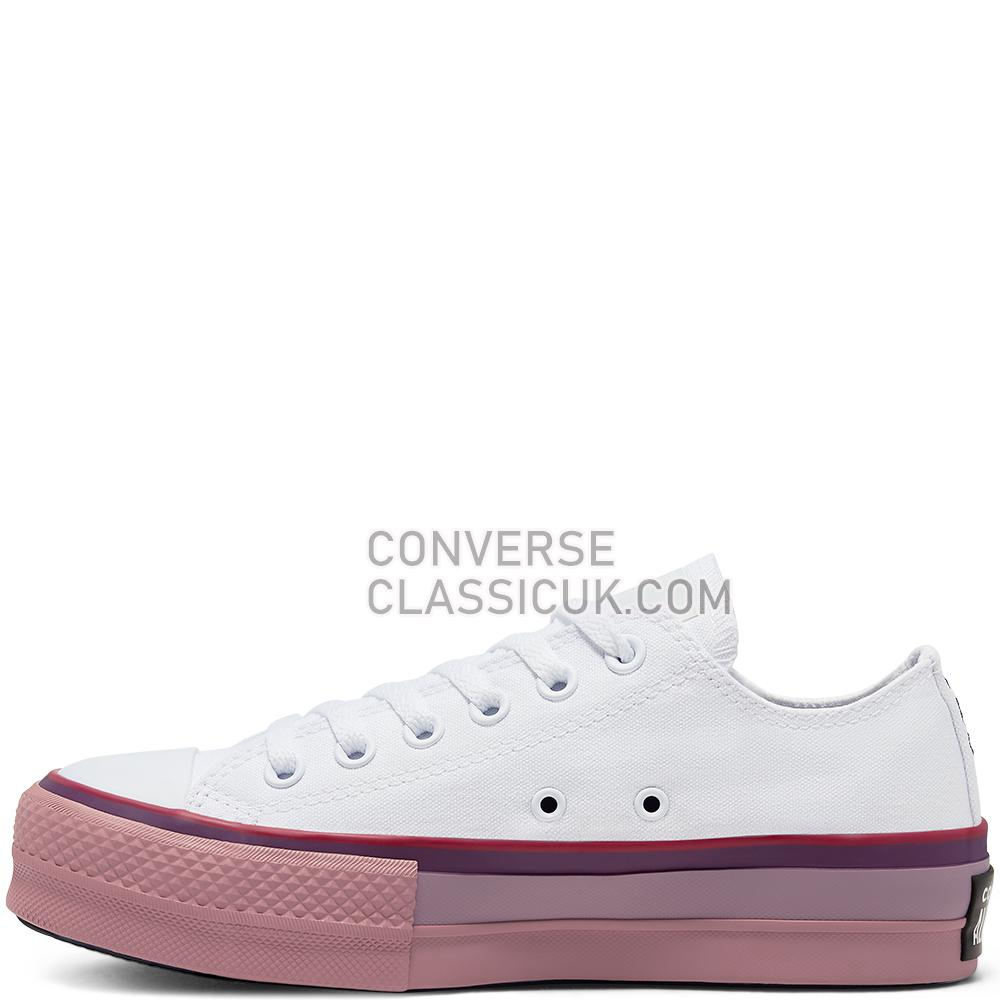 Converse x OPI Chuck Taylor All Star Platform Low Top Womens 566557C White//Multi Shoes