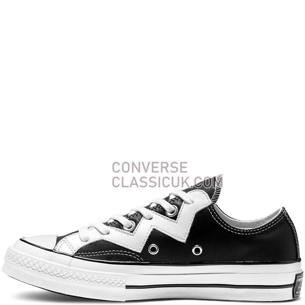 Converse Chuck 70 VLTG Low Top Womens 565368C Black/White/White Shoes
