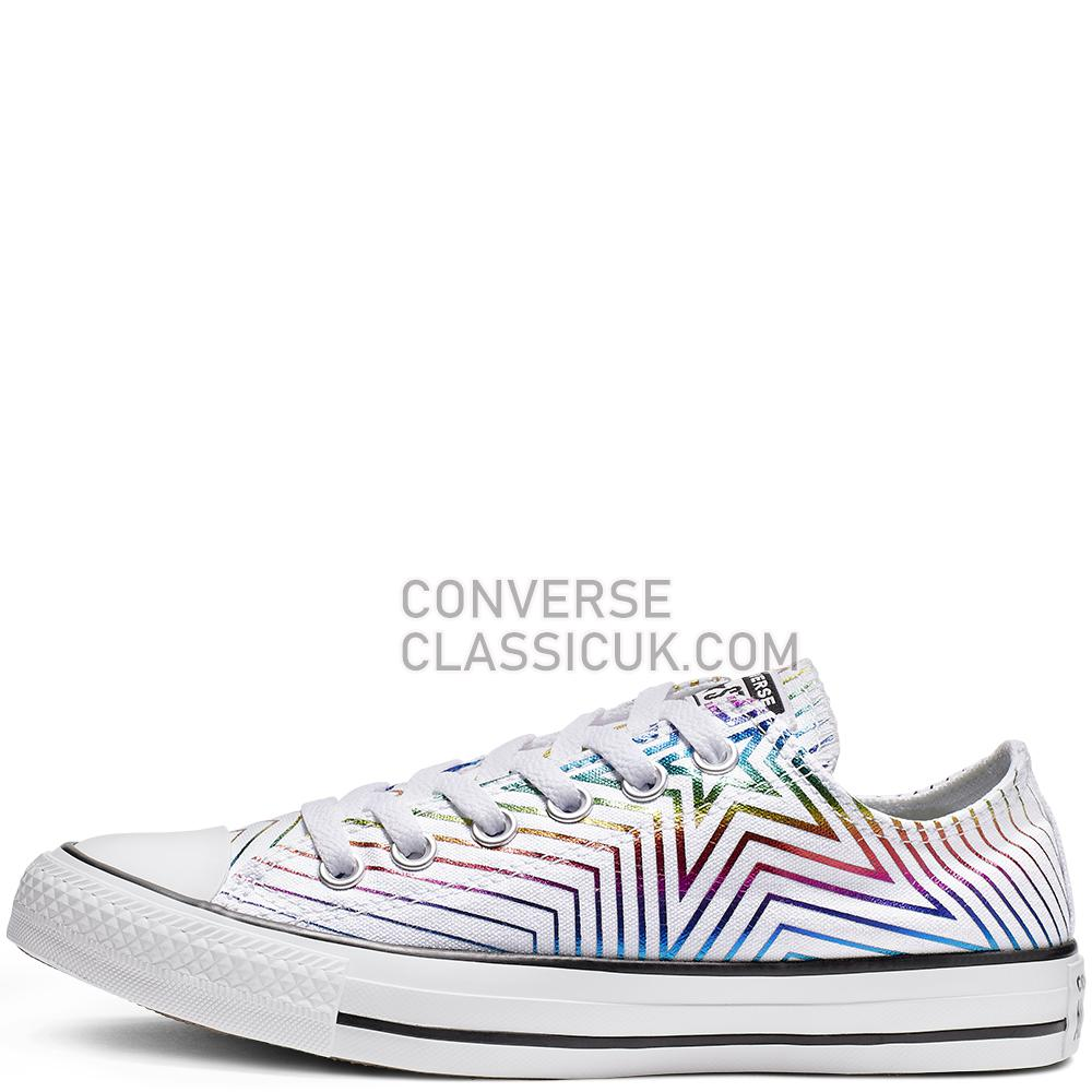Converse Chuck Taylor All Star Exploding Star Low Top Womens 565440C White/Black/White Shoes
