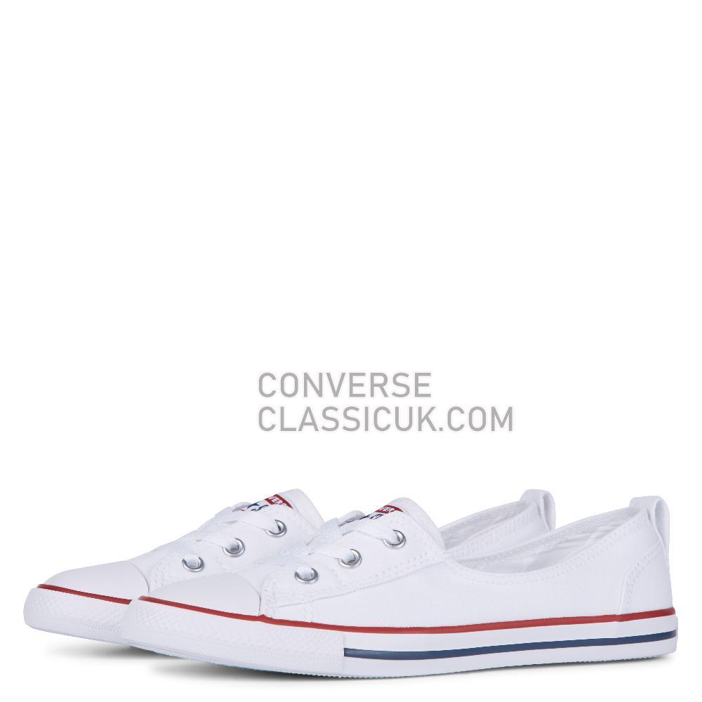 Converse Chuck Taylor Ballet Lace Slip Womens 549397C White Shoes