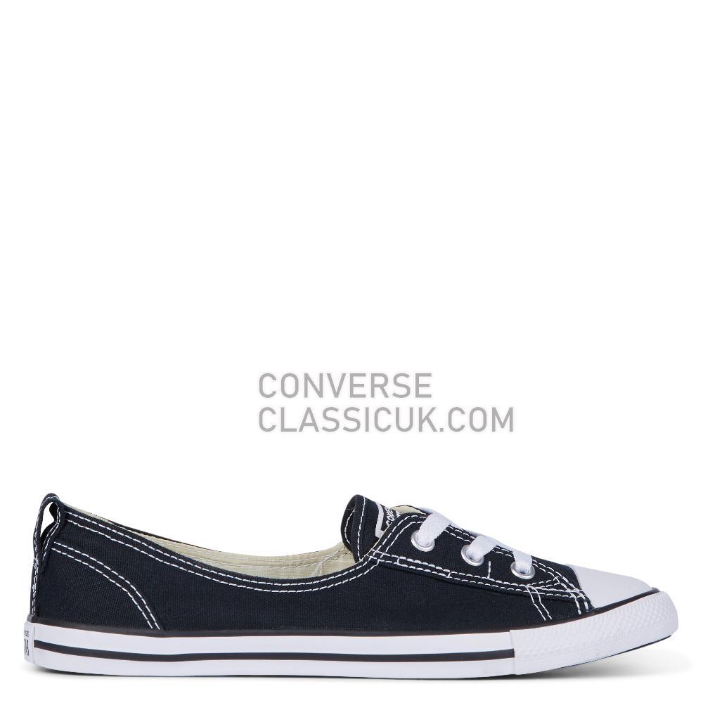 Converse Chuck Taylor Ballet Lace Slip Womens 547162C Black Shoes