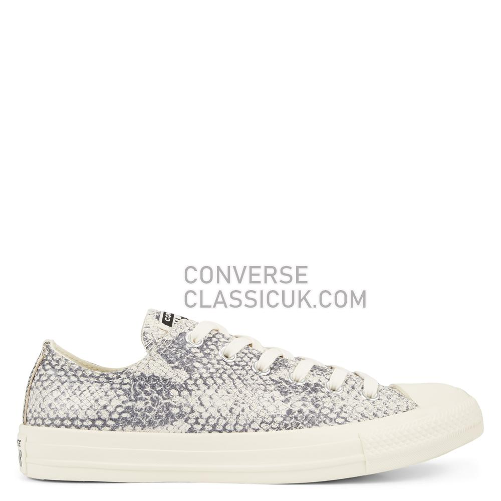 Converse Chuck Taylor All Star Animal Print Low-Top Mens Womens Unisex 165612C Egret/Black/Egret Shoes