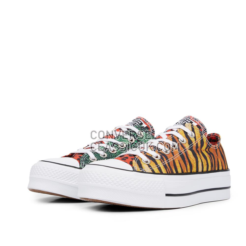 Converse Chuck Taylor All Star Hawaiian Mix Platform Low Top Womens 565795C Multi/White/Black Shoes