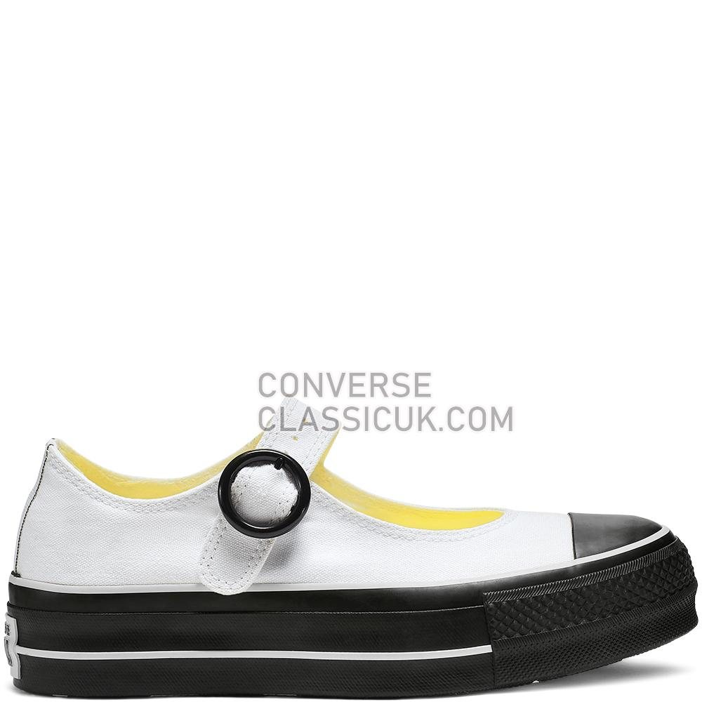 Converse Chuck Taylor All Star Mary Jane Low Top Womens 564318C White/White/Black Shoes