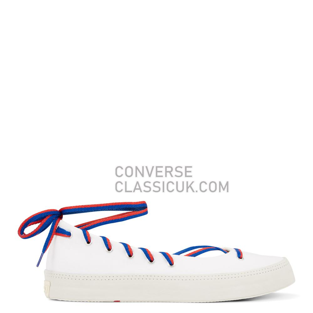 Converse Chuck Taylor All Star Rina Low-Top Womens 564310C White/Blue/Enamel/Red Shoes