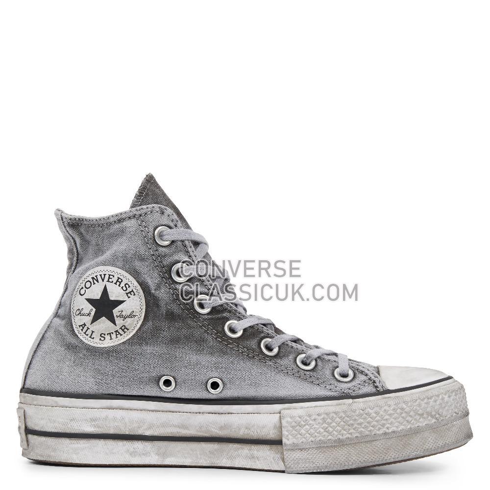 Converse - Chuck Taylor - Gray/Gray/White Womens 563113C Gray/Gray/White Shoes