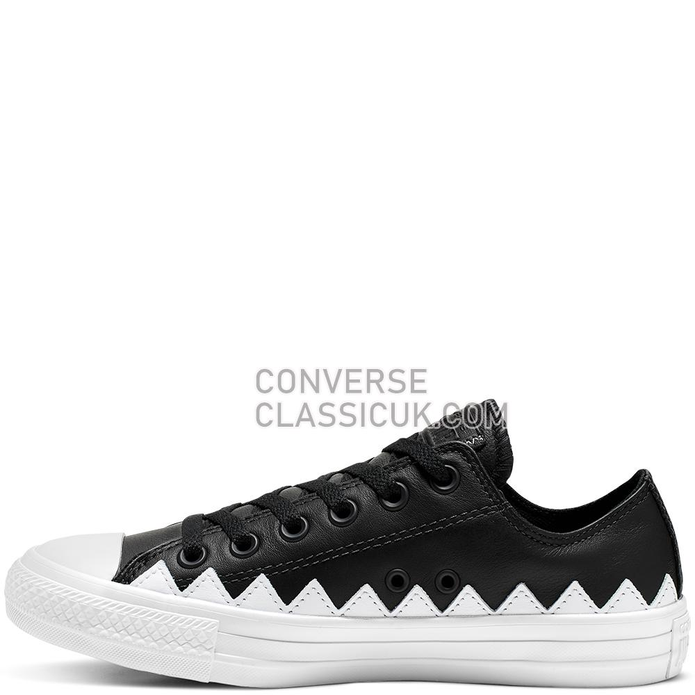 Converse Chuck Taylor All Star Mission-V Low Top Womens 565369C Black/White/White Shoes