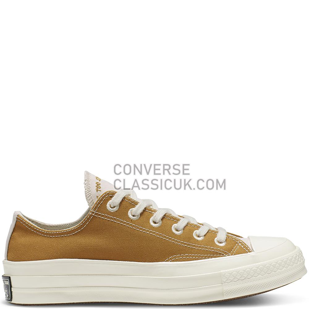 Converse Chuck 70 Renew Low Top Mens Womens Unisex 165423C Wheat/Natural/Black Shoes