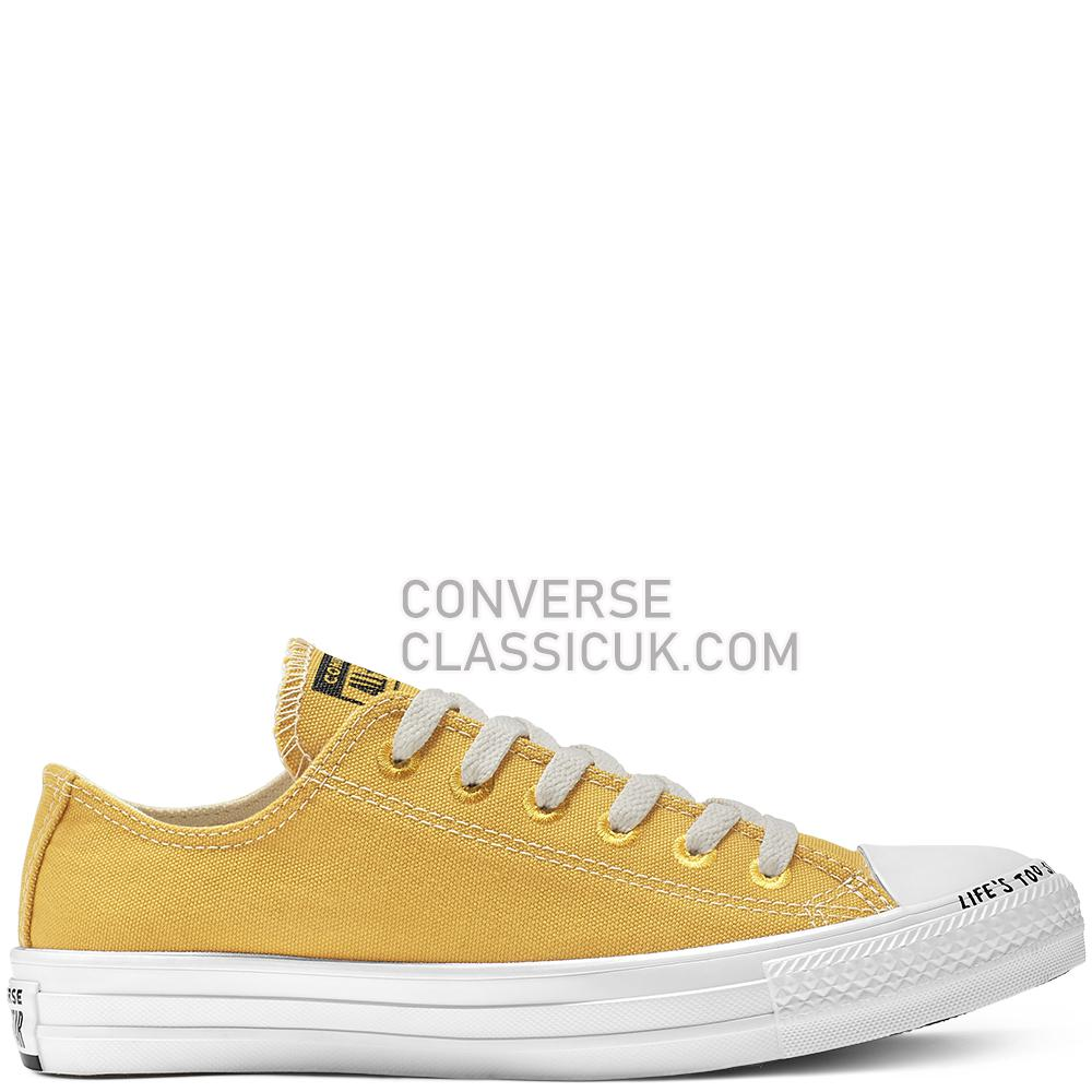 Converse Chuck Taylor All Star Renew Low Top Mens Womens Unisex 164920C Gold/Dart/Black/White Shoes