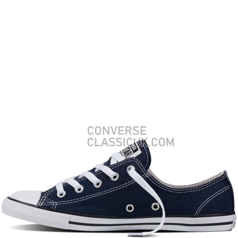 Converse - Chuck Taylor All Star Dainty - Navy - Low Top Womens 537649C Navy/White/Black Shoes