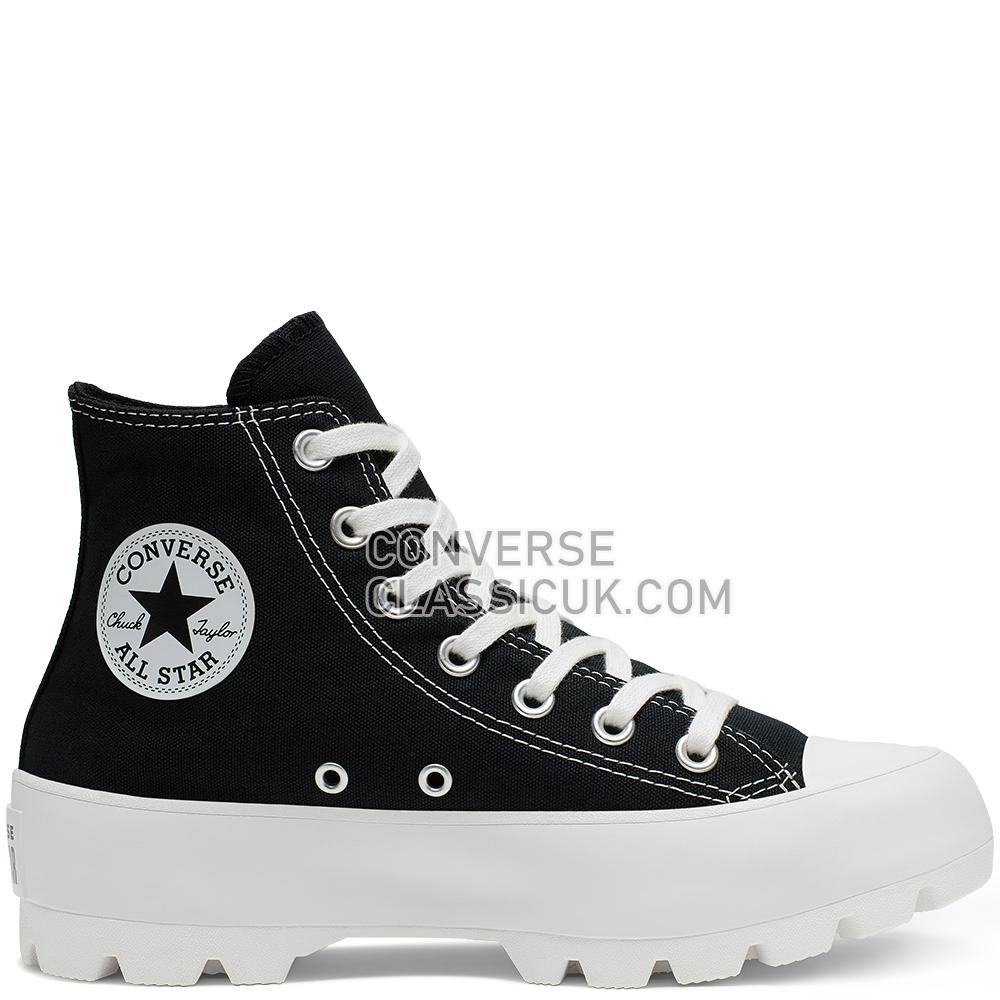 Converse Chuck Taylor All Star Lugged High Top Womens 565901C Black/White/Black Shoes