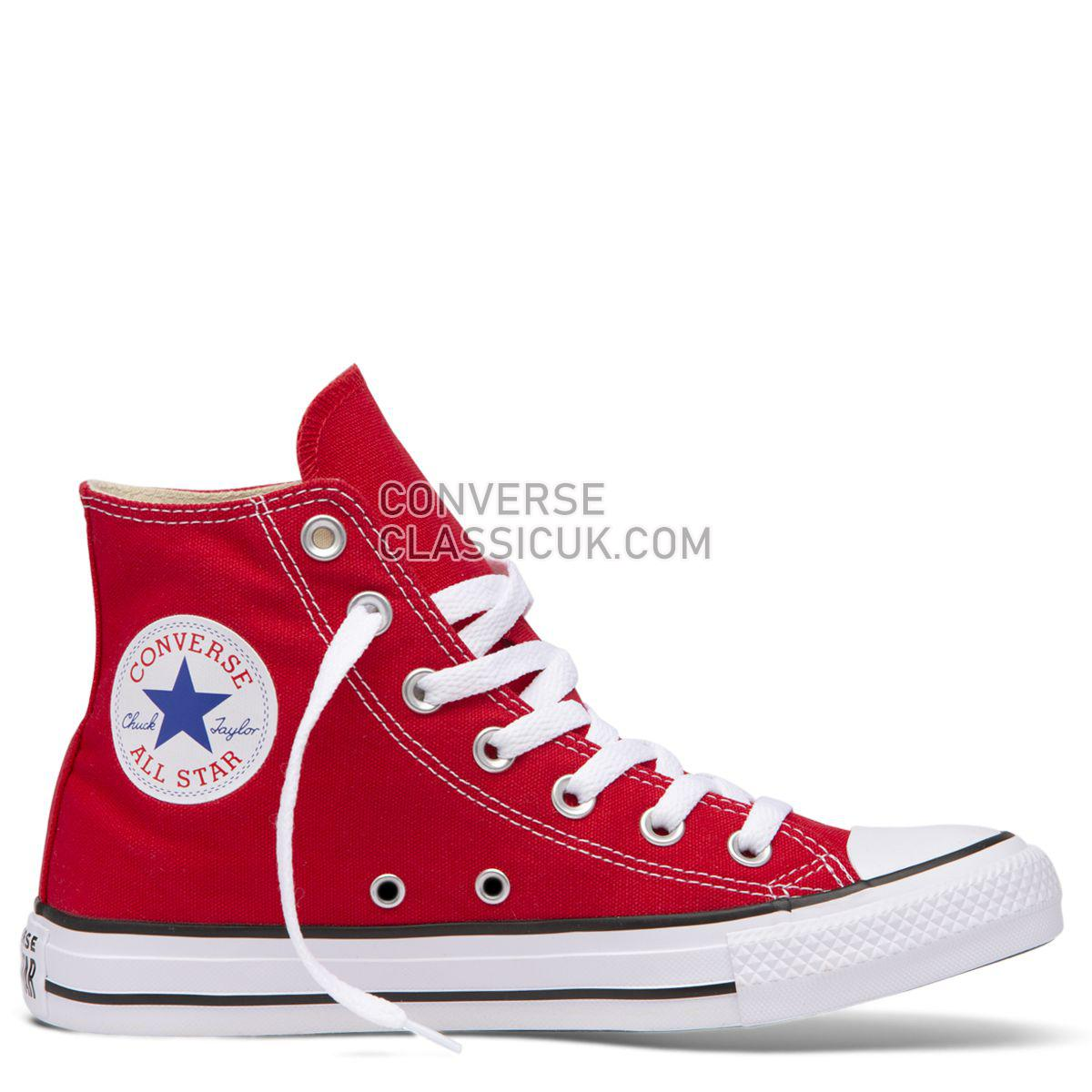 Converse Chuck Taylor All Star Classic Colour High Top Red Mens Womens Unisex 19621 Red Shoes