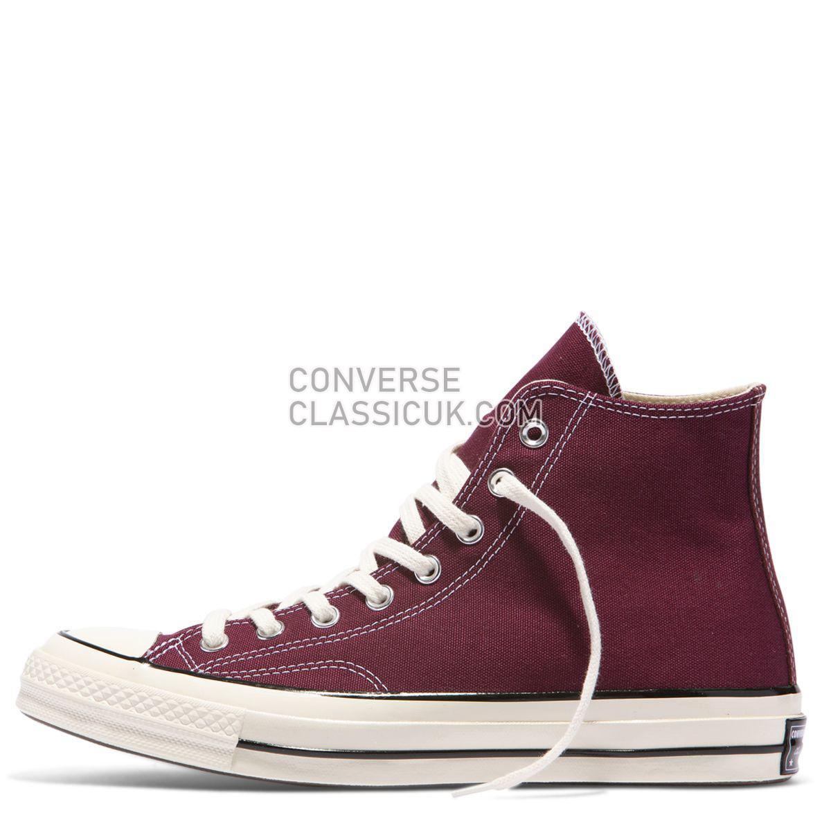 Converse Chuck Taylor All Star 70 Vintage Canvas High Top Dark Burgundy Mens Womens Unisex 162051 Dark Burgundy/Black/Egret Shoes