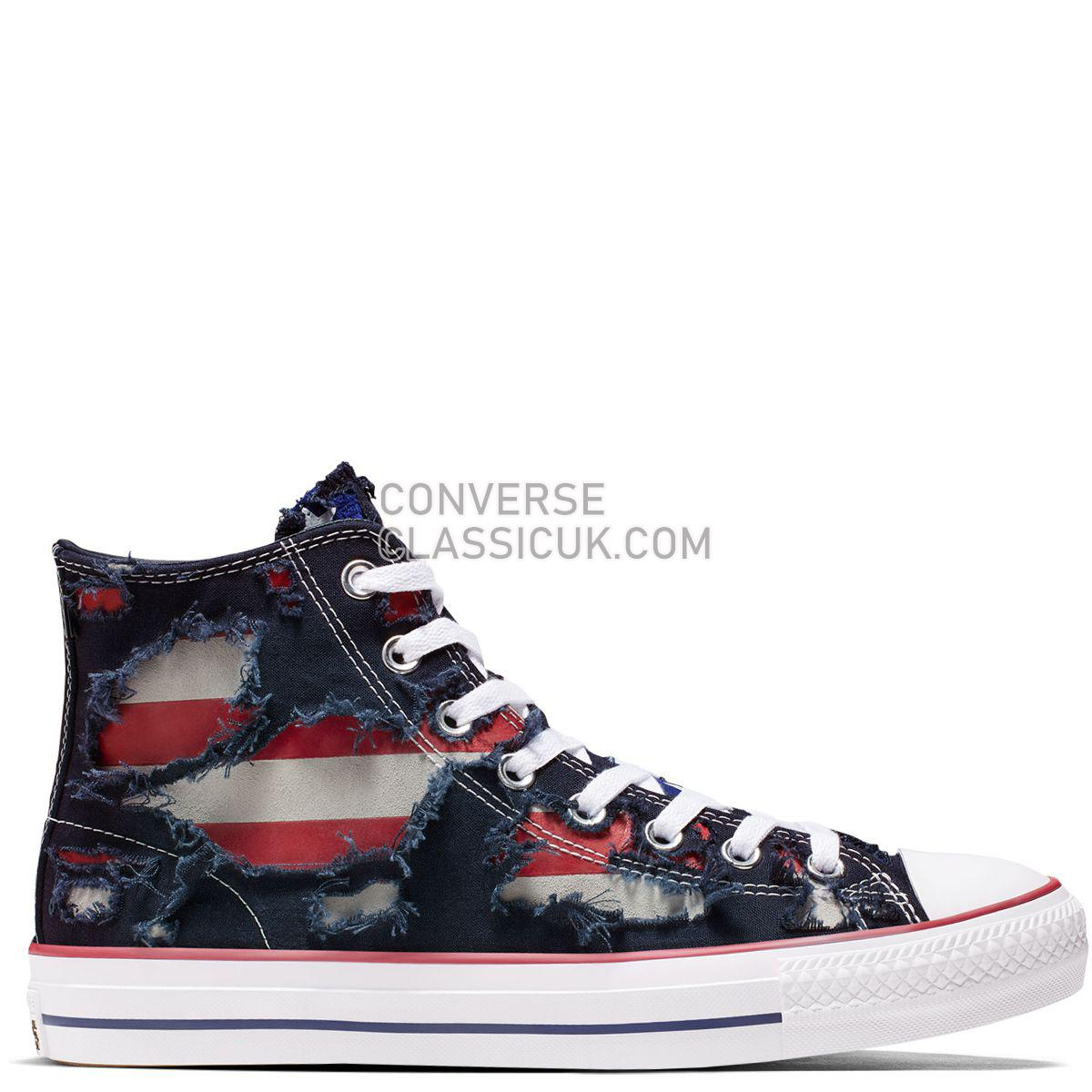 Converse CONS Chuck Taylor All Star Pro Archive Print High Top Obsidian Mens 165338 Obsidian/White/Enamel Red Shoes