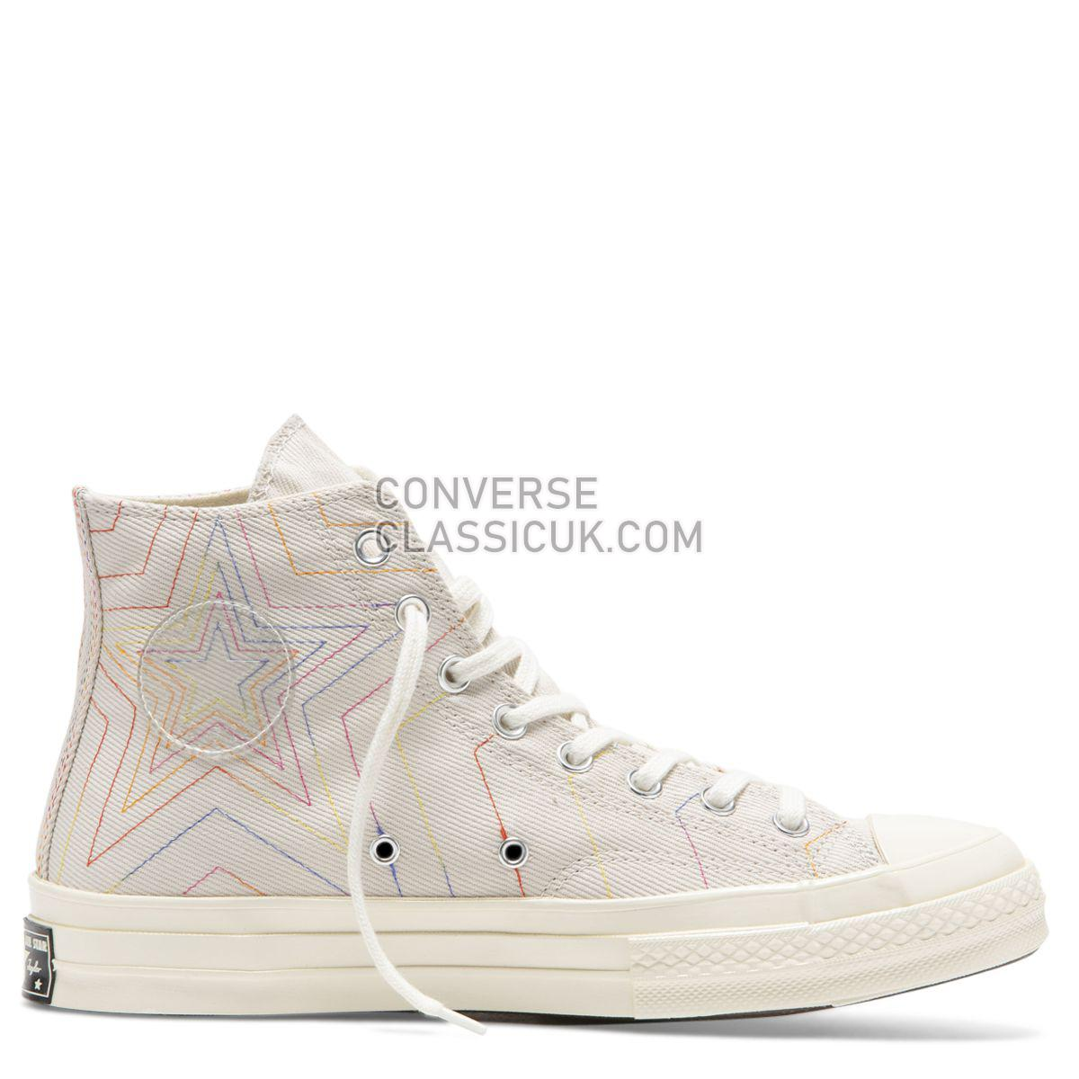 Converse Chuck Taylor All Star 70 Rainbow High Top White Mens Womens Unisex 164965 White/Pale Putty/Egret Shoes