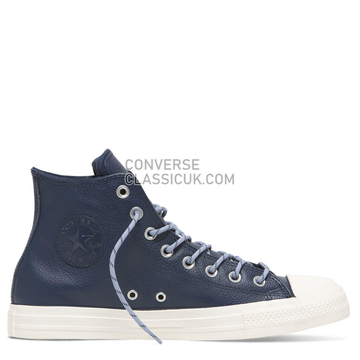 Converse Chuck Taylor All Star Limo Leather High Top Navy Mens Womens Unisex 163338 Navy/Indigo Fog/Egret Shoes
