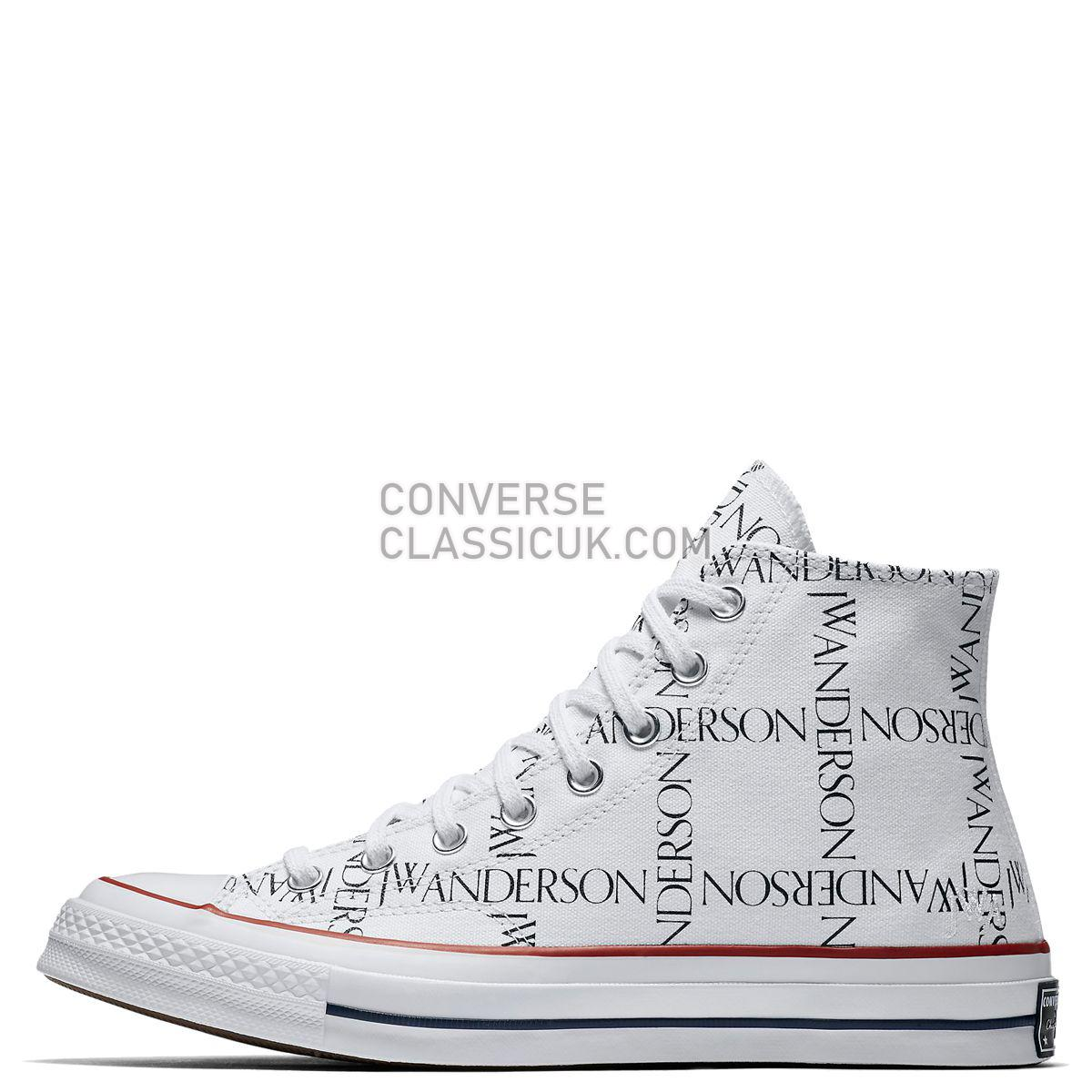 Converse X JW Anderson Chuck Taylor All Star 70 Grid High Top White Mens 160808 White/Black/Insignia Red Shoes
