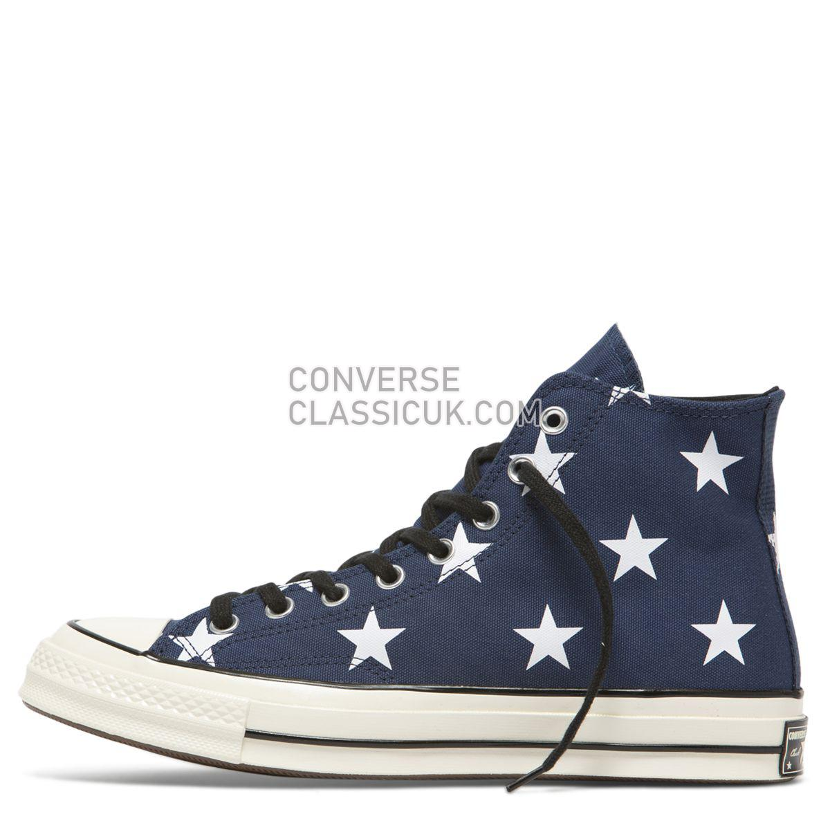Converse Chuck Taylor All Star 70 Archive Print High Top Vintage Star Mens Womens Unisex 163409 Navy/White/Egret Shoes
