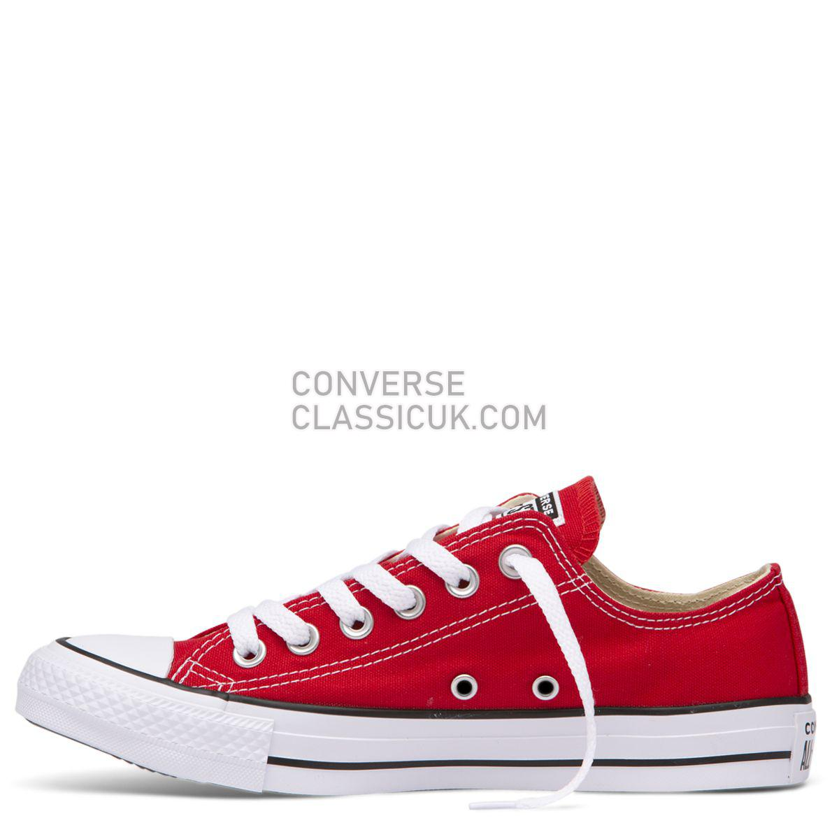 Converse Chuck Taylor All Star Classic Colour Low Top Red Mens Womens Unisex 19696 Red Shoes