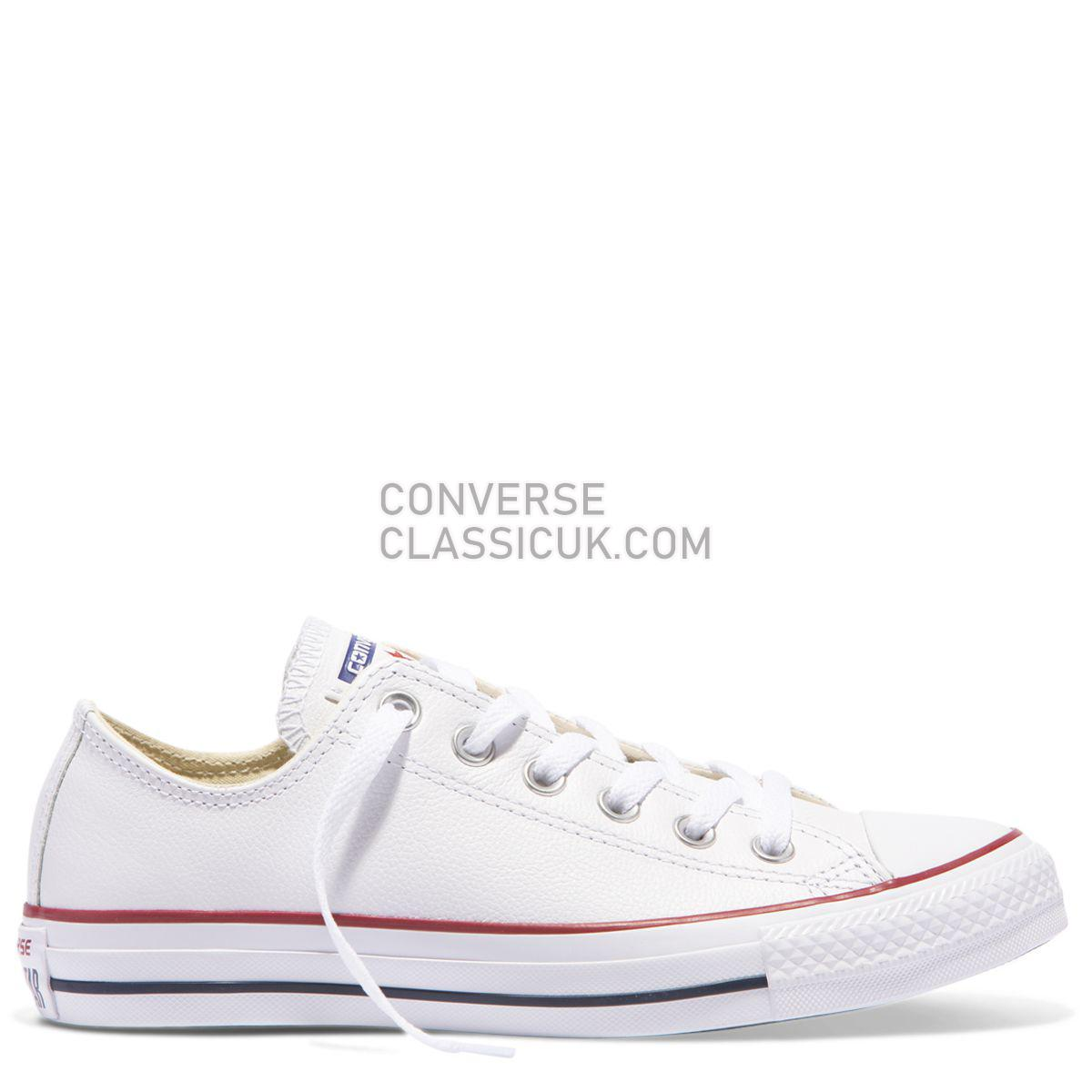 Converse Chuck Taylor All Star Leather Low Top White Mens Womens Unisex 132173 White Shoes
