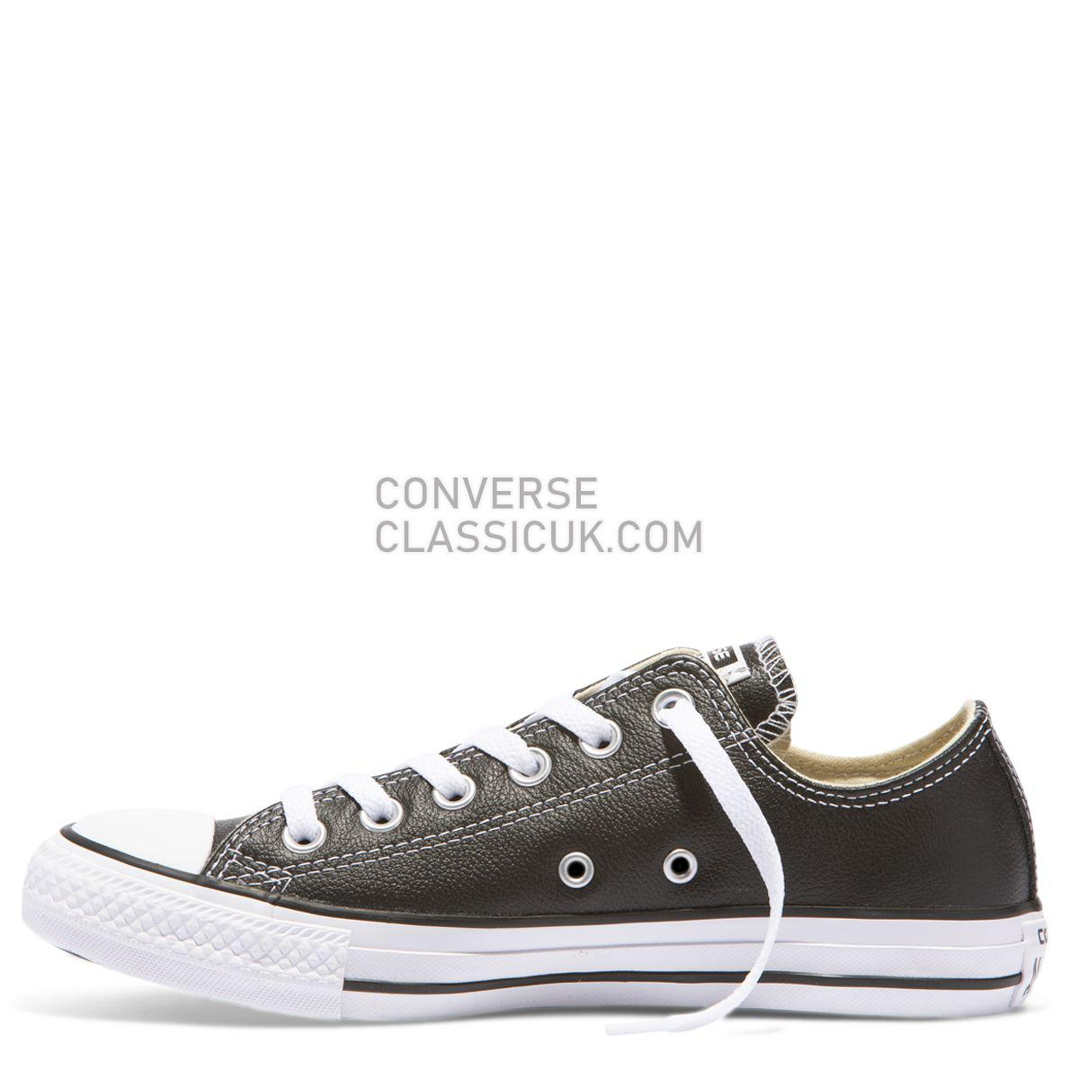 Converse Chuck Taylor All Star Leather Low Top Black Mens Womens Unisex 132174 Black Shoes