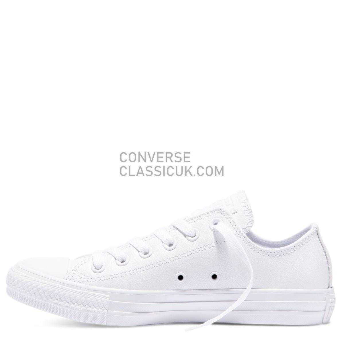 Converse Buy Chuck Taylor All Star Mono Leather Low Top White Online Mens Womens Unisex 136823 White Shoes