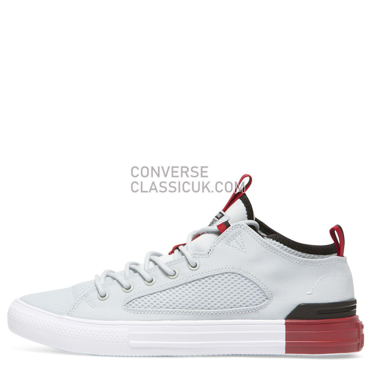 Converse Chuck Taylor All Star Ultra Colour Block Mesh Low Top Pure Platinum Mens Womens Unisex 160483 Pure Platinum/Gym Red/Black Shoes