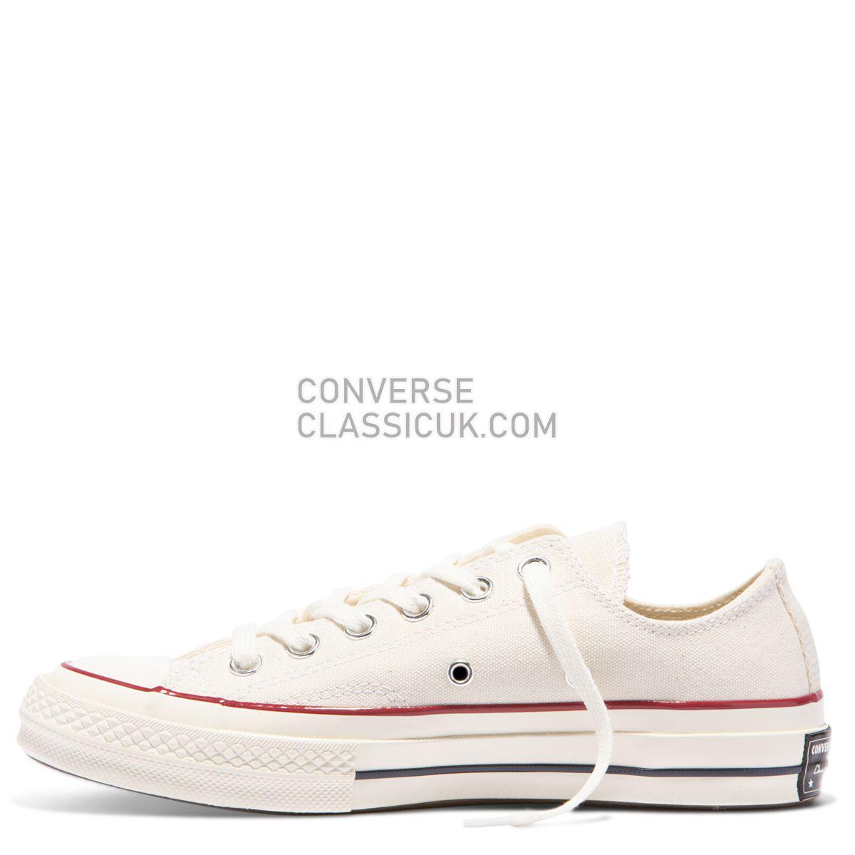 Converse Chuck Taylor All Star 70 Low Top Parchment Mens Womens Unisex 162062 Parchment/Garnet/Egret Shoes