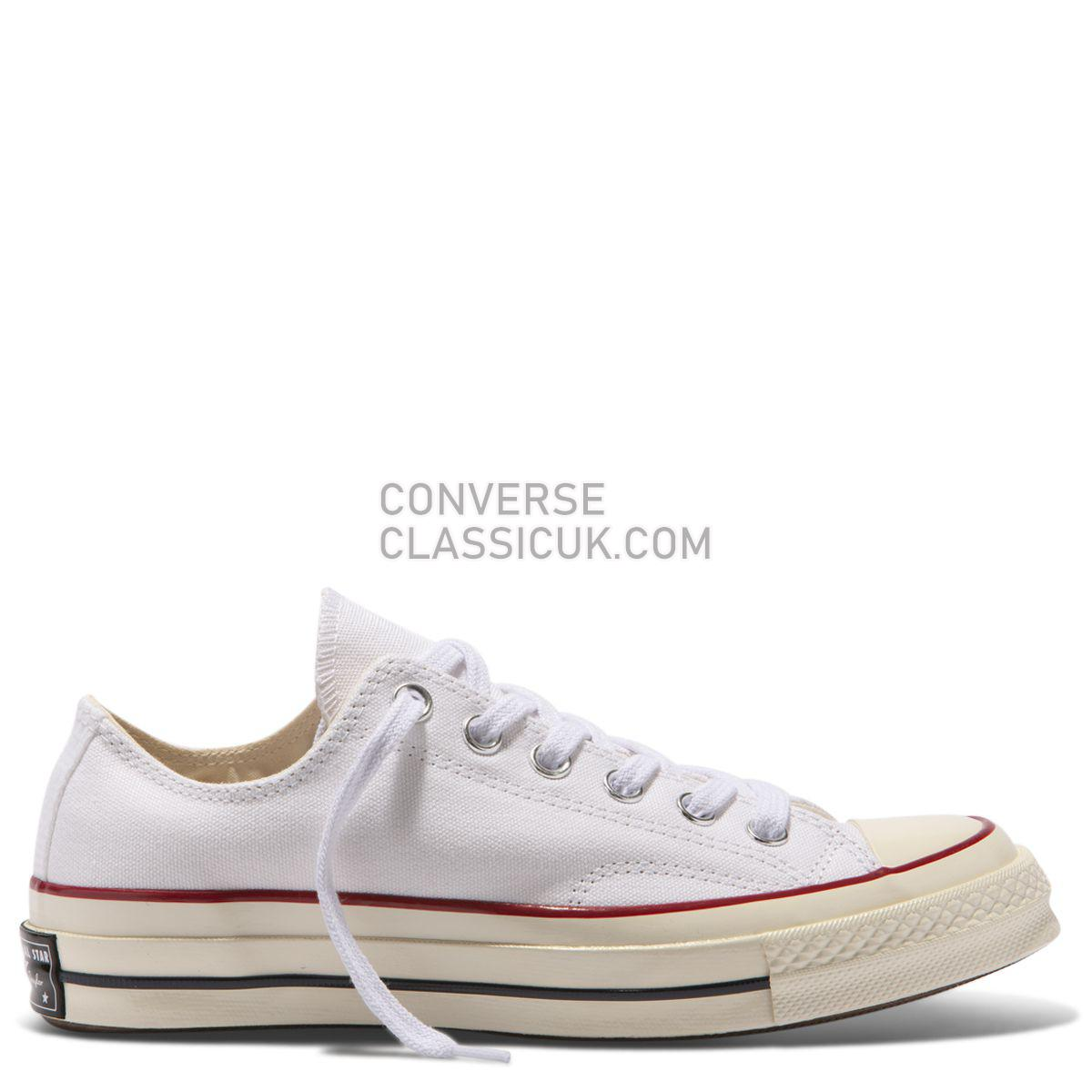 Converse Chuck Taylor All Star 70 Low Top White Mens Womens Unisex 162065 White/Garnet/Egret Shoes