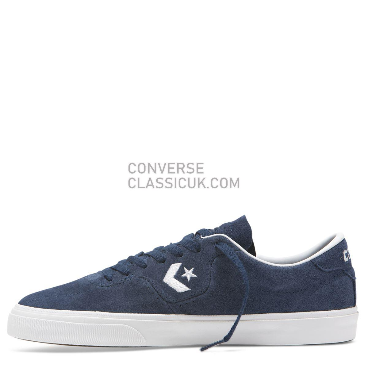 Converse CONS Louie Lopez Pro Classic Suede Low Top Navy Mens 165273 Navy/White/Gum Shoes