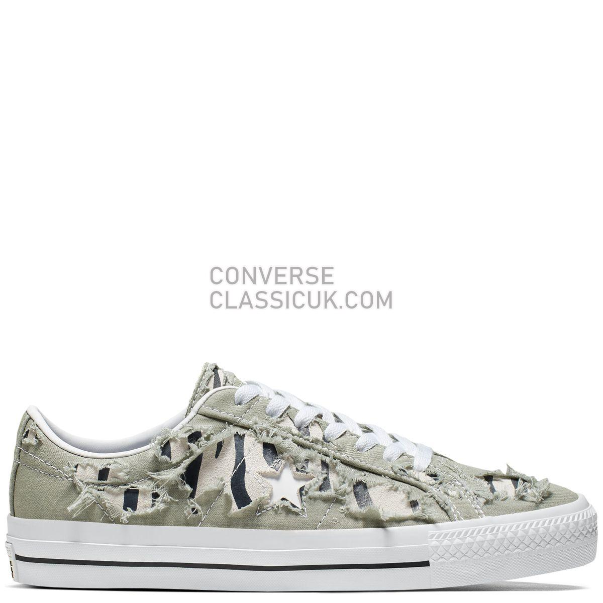 Converse CONS One Star Pro Archive Print Low Top Jade Stone Mens 165337 Jade Stone/Black/White Shoes