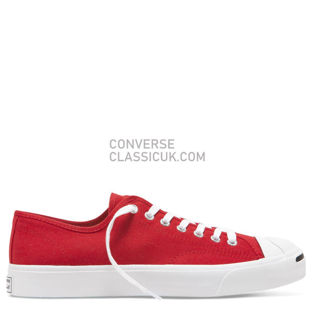 Converse Jack Purcell Twill Low Top Enamel Red Mens 165010 Enamel Red/White/Black Shoes
