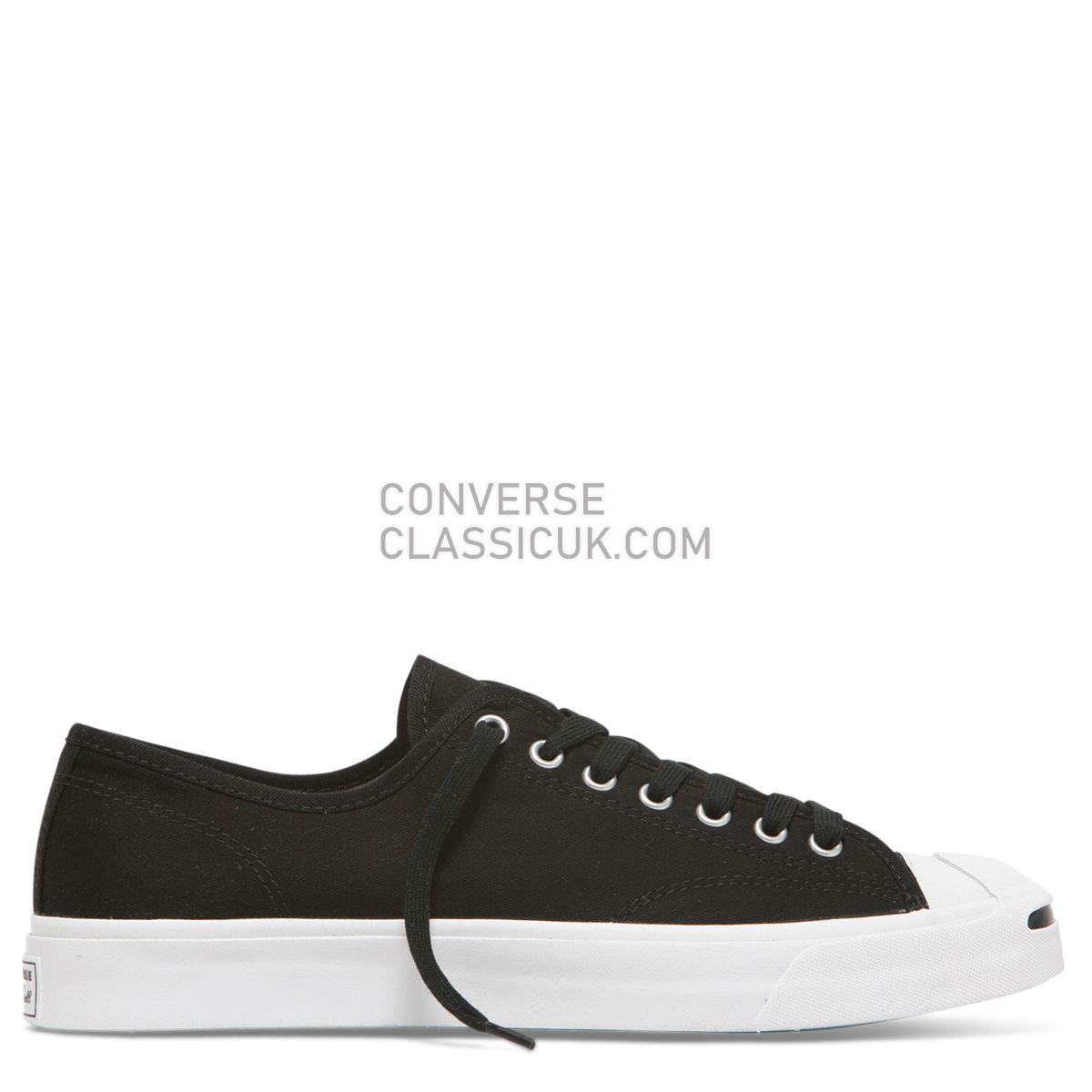 Converse Jack Purcell First In Class Low Top Black Mens 164056 Black/White/Black Shoes