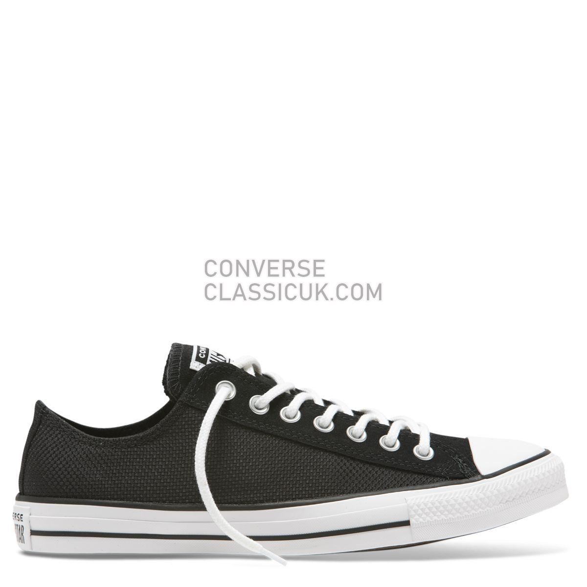 Converse Chuck Taylor All Star Utility Low Top Black Mens Womens Unisex 165334 Black/White/Black Shoes