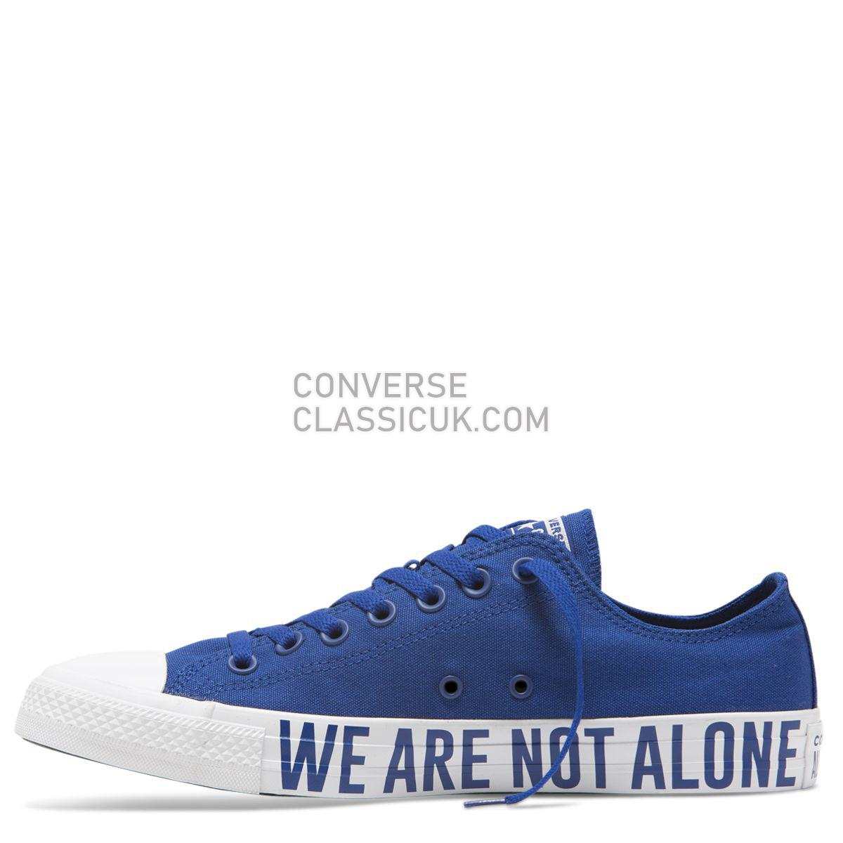 Converse Chuck Taylor All Star We Are Not Alone Low Top Blue Mens Womens Unisex 165383 Blue/Black/Blue Shoes