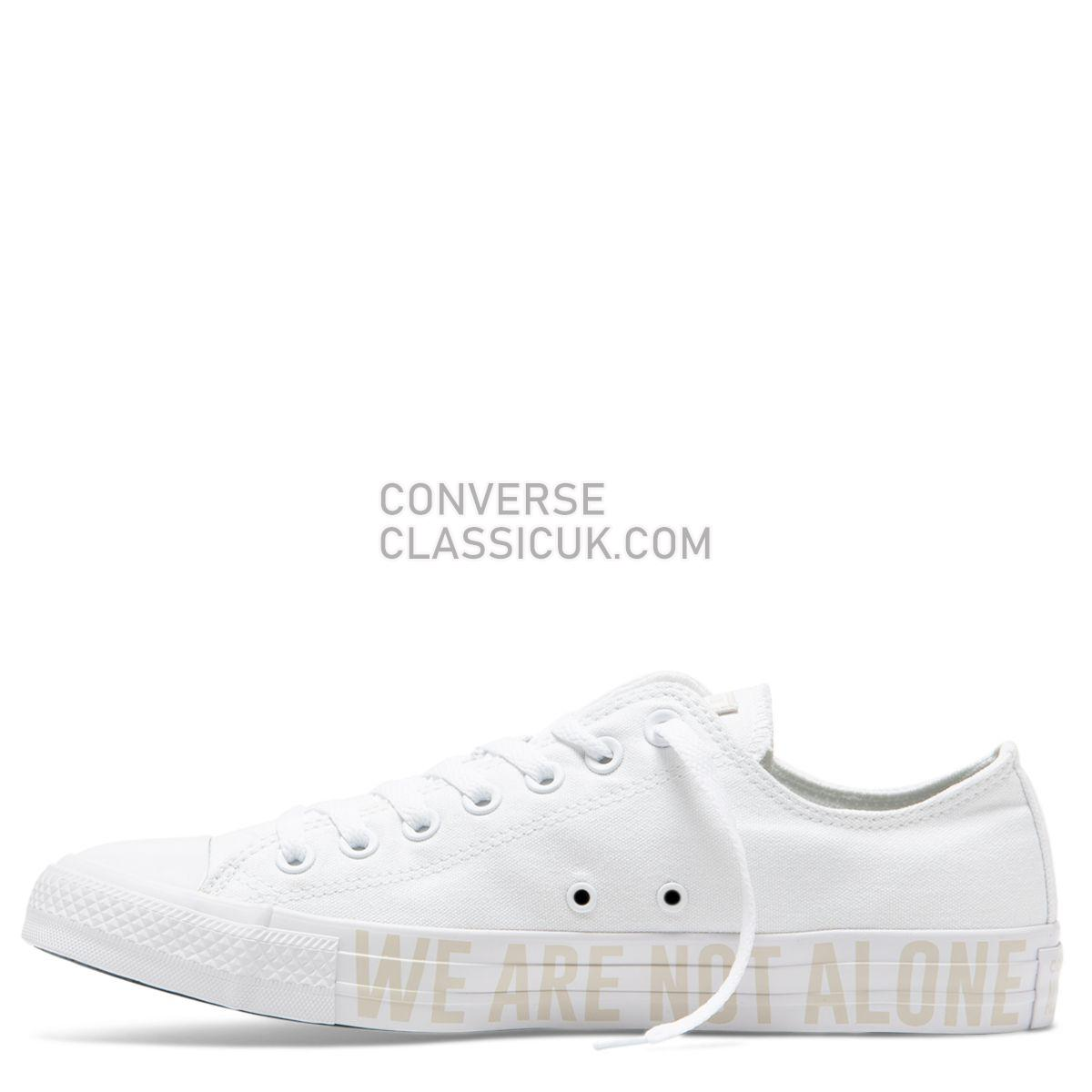 Converse Chuck Taylor All Star We Are Not Alone Low Top White Mens Womens Unisex 165384 White/Pale Putty/White Shoes