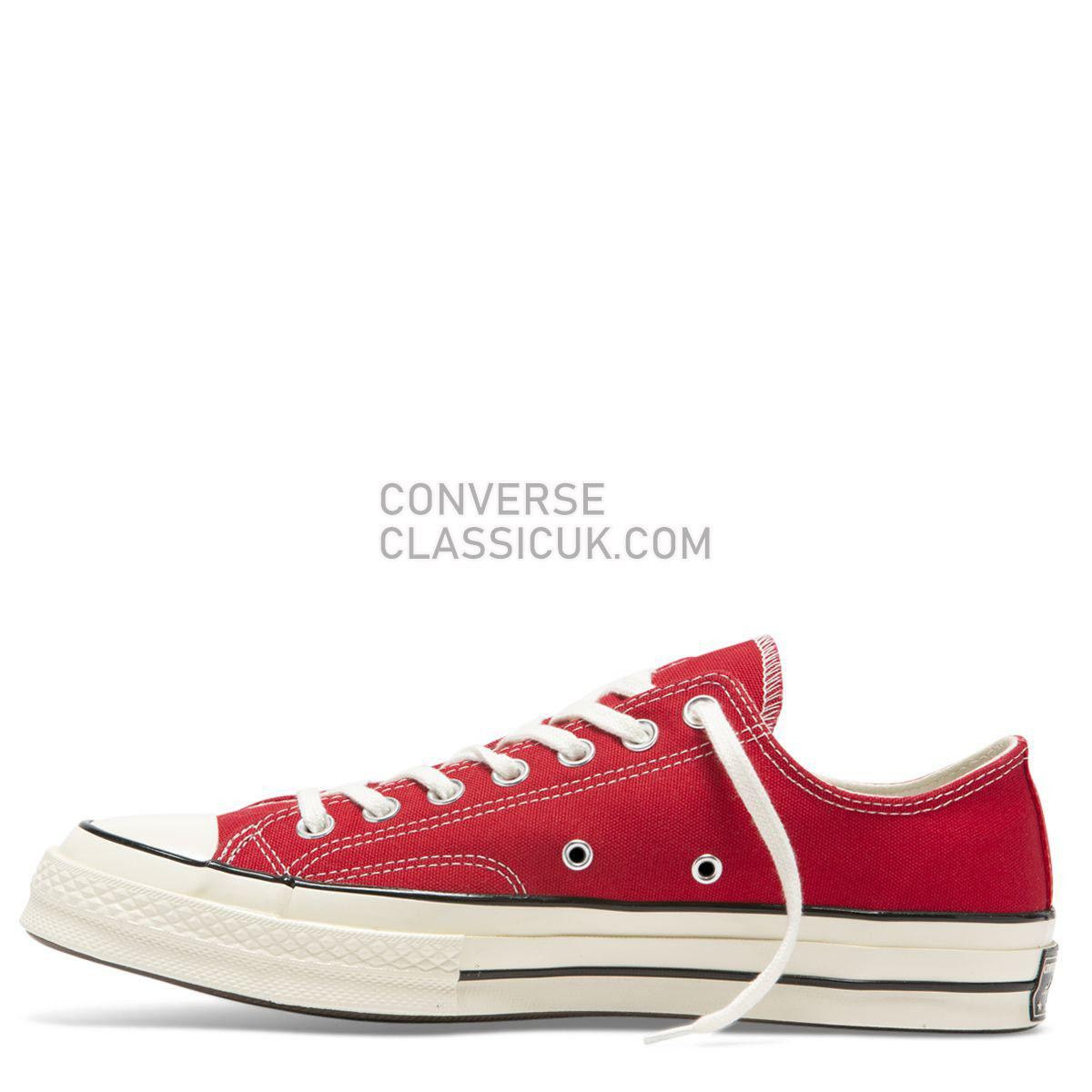 Converse Chuck Taylor All Star 70 Always On Low Top Enamel Red Mens Womens Unisex 164949 Enamel Red/Egret/Black Shoes