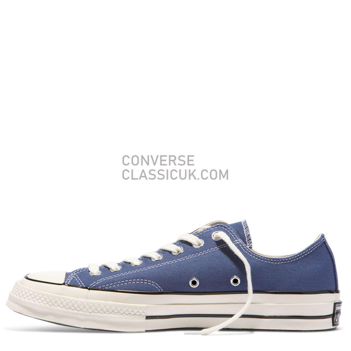 Converse Chuck Taylor All Star 70 Vintage Canvas Low Top True Navy Mens Womens Unisex 162064 Obsidian/Black/Egret Shoes