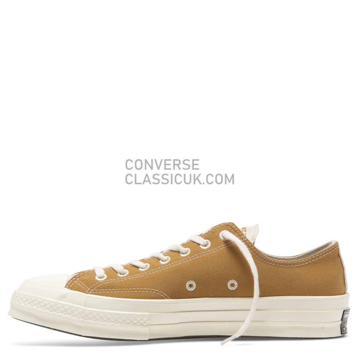 Converse Chuck Taylor All Star 70 Renew Canvas Low Top Wheat Mens Womens Unisex 165423 Wheat/Natural/Black Shoes