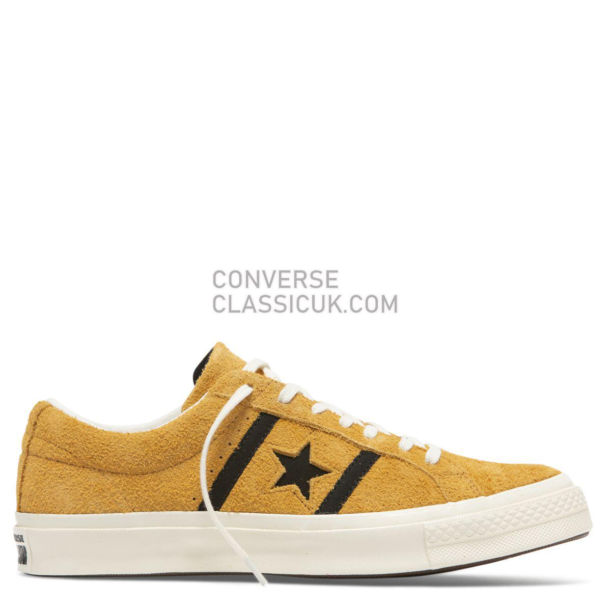 Converse One Star Academy Low Top Amber Ochre Mens Womens Unisex 163268 Amber Ochre/Black/Egret Shoes