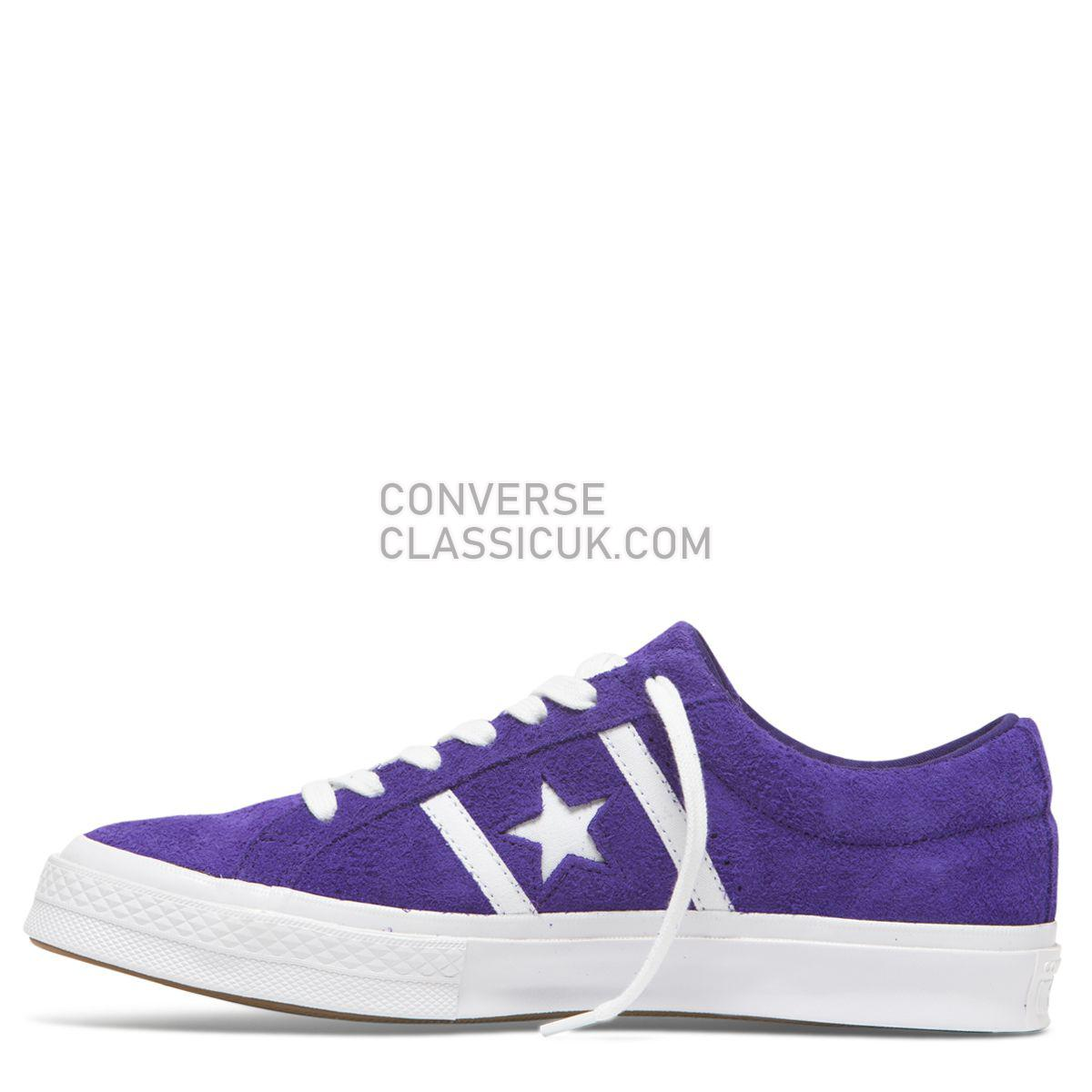 Converse One Star Academy Low Top Court Purple/White Mens Womens Unisex 164391 Court Purple/White/White Shoes