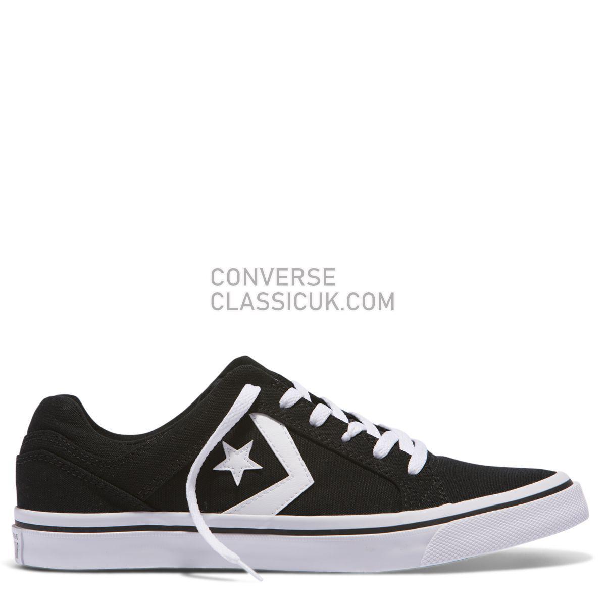 Converse Distrito Canvas Low Top Black Mens 155064 Black/White/Black Shoes