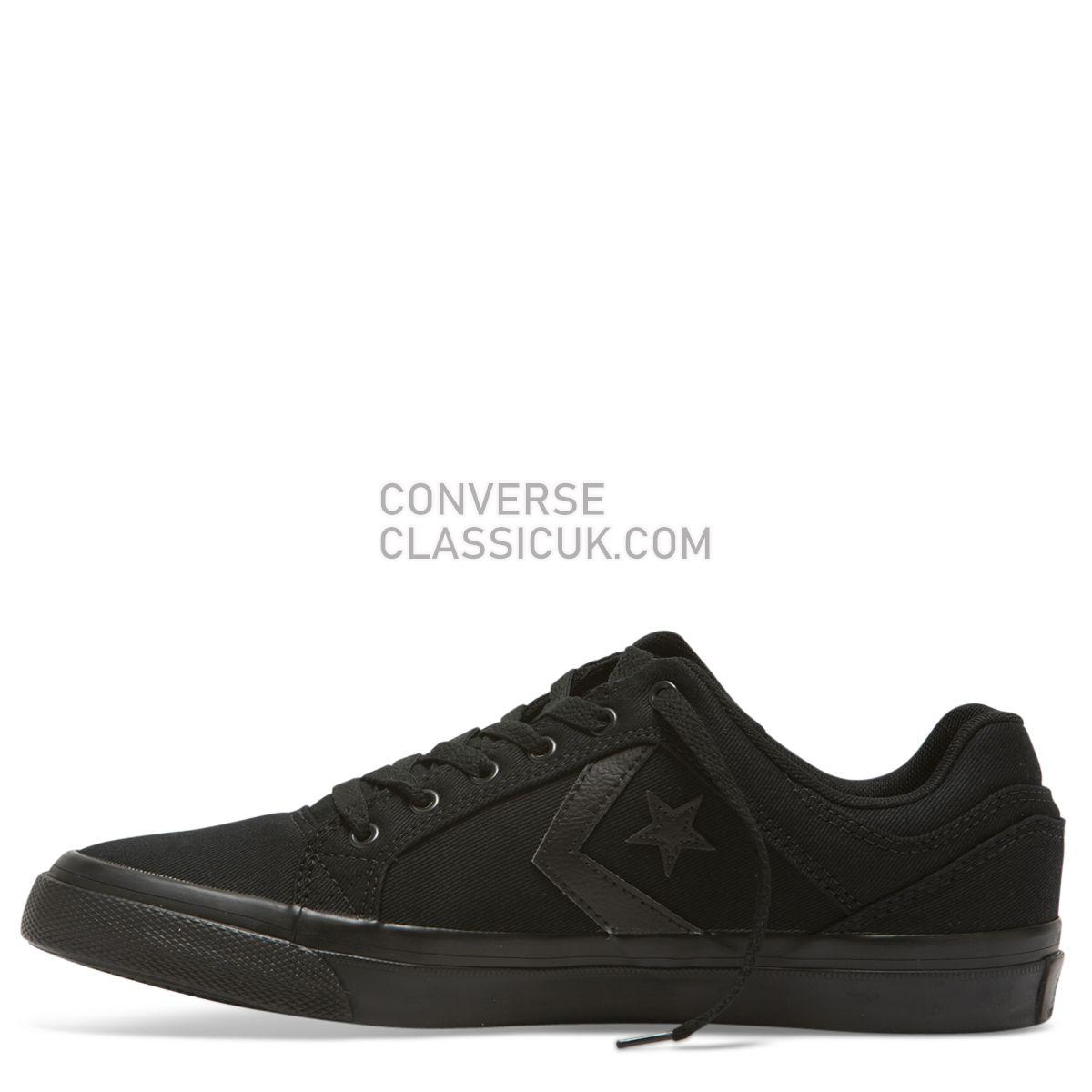 Converse CONS El Distrito Canvas Low Top Black/Black Mens 159786 Black/Black/Black Shoes