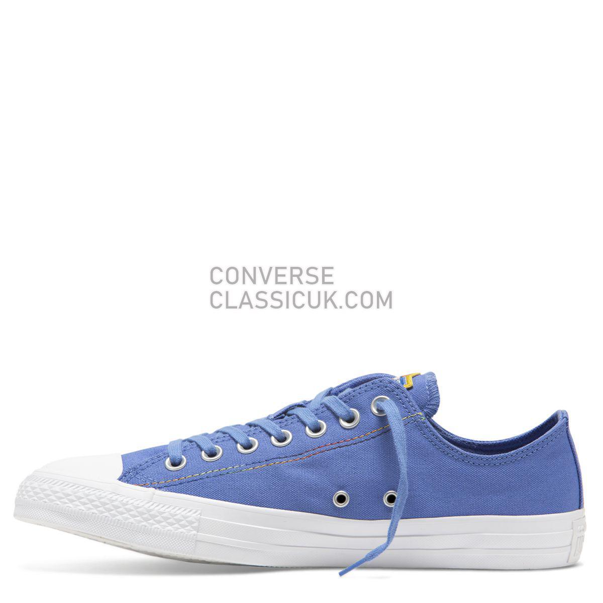 Converse Chuck Taylor All Star Rainbow Low Top Ozone Blue Mens Womens Unisex 165427 Ozone Blue/White/Vivid Sulfur Shoes